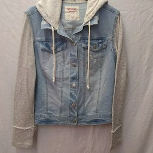 Mossimo Supply Co. Jean Jacket Hoodie